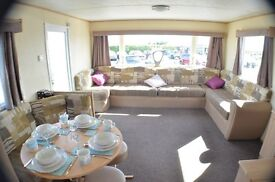 😀😀Static caravan with stunning sea view at Southerness Holiday Park😀😀
