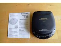Technics SL-XP165 Portable CD Player MASH. Excellent Condition