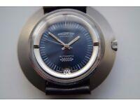 Nivada Ultramatic 36000 Hi Beat automatic mechanical wristwatch - Swiss - NOS - '70s - Eta 2734