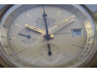 Lemania/Omega Philip Morris automatic mechanical chronograph wristwatch - Swiss - '70s - Cal 1341 GP