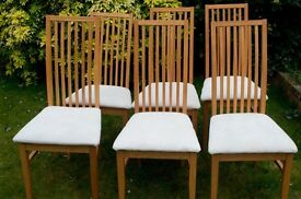 Six Dinning Chairs in Excellent Condition