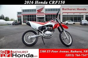 2016 Honda CRF150F Smooth, easy-to-use power that recreational r