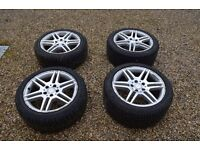 """Mercedes C Class Estate Amg 17"""" Wheels + nearly new Winter Tyres (2009 W204 model)"""
