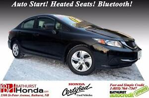 2014 Honda Civic Sedan LX Honda Certified! Auto Start! Heated Se