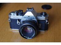 Pentax MX film SLR with 50mm lens