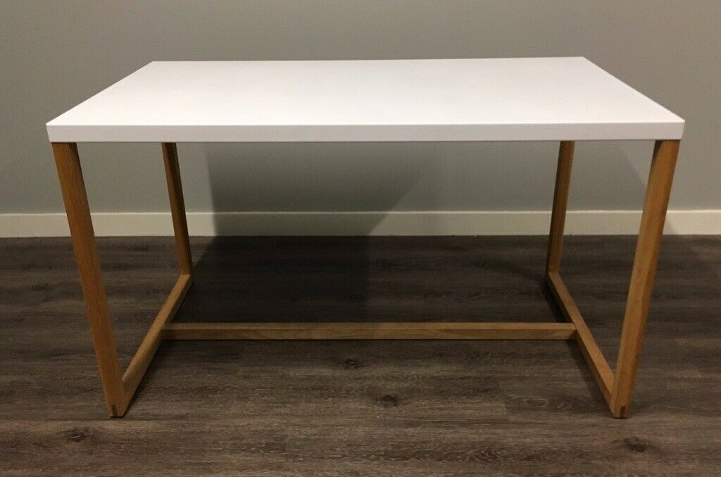 Used Habitat Kilo Dining Table In Excellent Condition White Metal With Oak Frame Bargain 65 Leith Edinburgh Gumtree