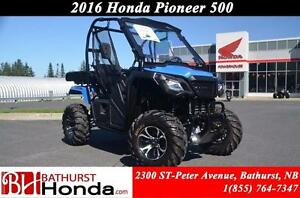 2016 Honda Pioneer500 Large, flat cargo area! Excellent Drivabil