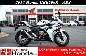 2017 Honda CBR500R ABS! Top-End Performance! Stable & Compact En