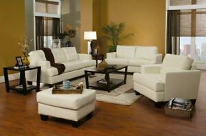 FREE DELIVERY in Vancouver! Leather Sofa and Loveseat Set! NEW!