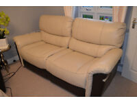 3 seater sofa, leather sofa, recliner manual, excelent condition, can deliver
