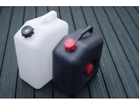 Fresh and Waste Water Containers Camping or Caravaning