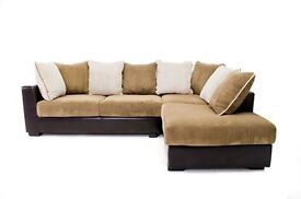 Brand new cord fabric/leather corner suite cookstown/omagh/dungannon/magherafelt