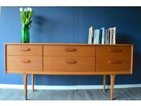 Vintage 'Austinsuite' teak dressing table /drawers/ sideboard. Delivery. Midcentury/ Danish style.