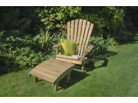 New garden Chair and Footstool