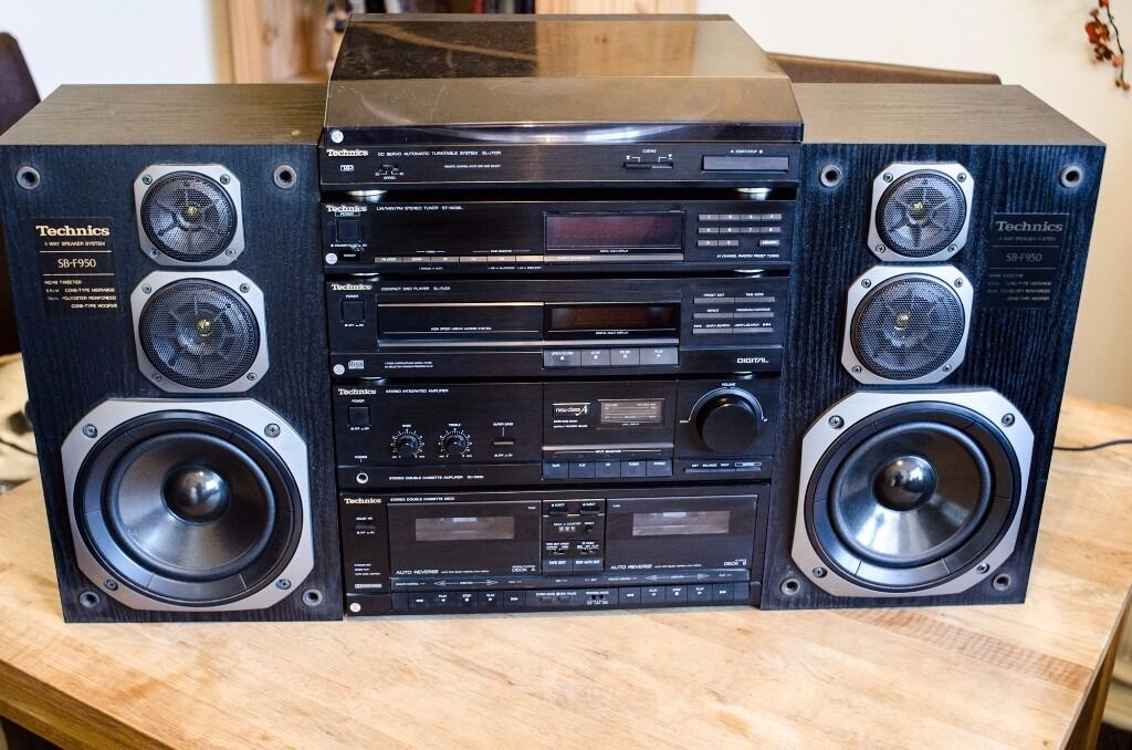 vintage technics hi fi stereo system separates turntable. Black Bedroom Furniture Sets. Home Design Ideas