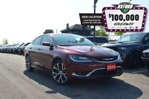 2016 Chrysler 200 C - GPS, Sunroof, Bluetooth, Back Up Cam, Heat