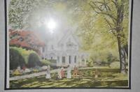 Framed Victorian scene print by Walter Campbell