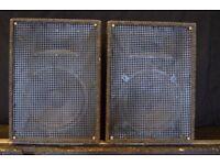 6x Unbranded Monitors / floor wedges - Speakers