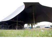 120 Capacity Tent Hire - Festival Wedding Birthday Stretch Marquee