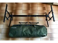 **FOX STALKER PLUS 2/3 ROD POD* CARP BARBEL CHUB PIKE FISHING**