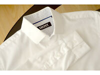 "Donna Karan New York White Shirt S(15"") tailored fit. Used once. Neck 38cm/15"" Chest 95cm/37.5"""
