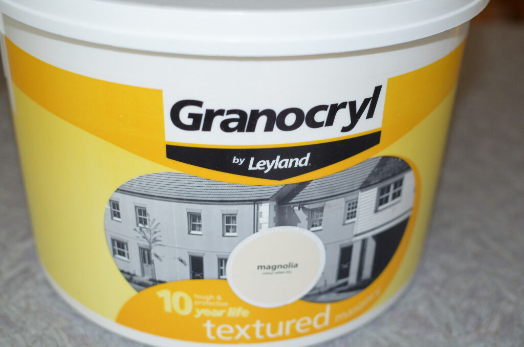 GRANOCRYL TEXTURED MASONRY PAINT COLOUR MAGNOLIA 10 LITRES BY
