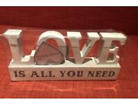 """""""LOVE is all you need"""" letter blocks"""