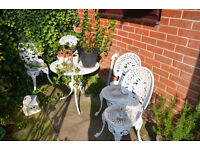 Victorian Style Antique Outdoor Table and Chairs Set Patio