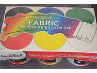 Speedball 6 Pack of Screen Printing Waterbased Fabric Ink Starter Kit Pack