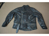 Echtes Leder Leather Motorcycle/Rocker Jacket