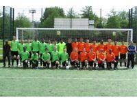 Weekend 11 aside football team recruiting, play football on the weekend. Join football team. 191h3