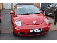 Volkswagen Beetle 1.6 Luna Cabriolet, 2006, VGC, 84k, FSH, 12 months MOT, full h/leather, elec roof