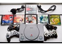 PS1, 6 games, two controllers and a memory card