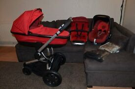 Full Travel System, Quinny Buzz Red Rebel + Maxi Cosi Pebble Car Seat