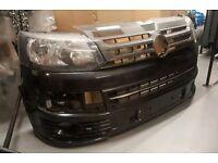 VW volkswagon T5 facelift front bumper splitter. Sportsline style
