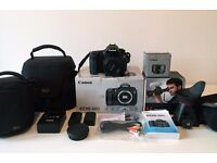 Canon EOS 60D 18.0MP Digital SLR Camera – 50mm Lens + Accessories Bundle