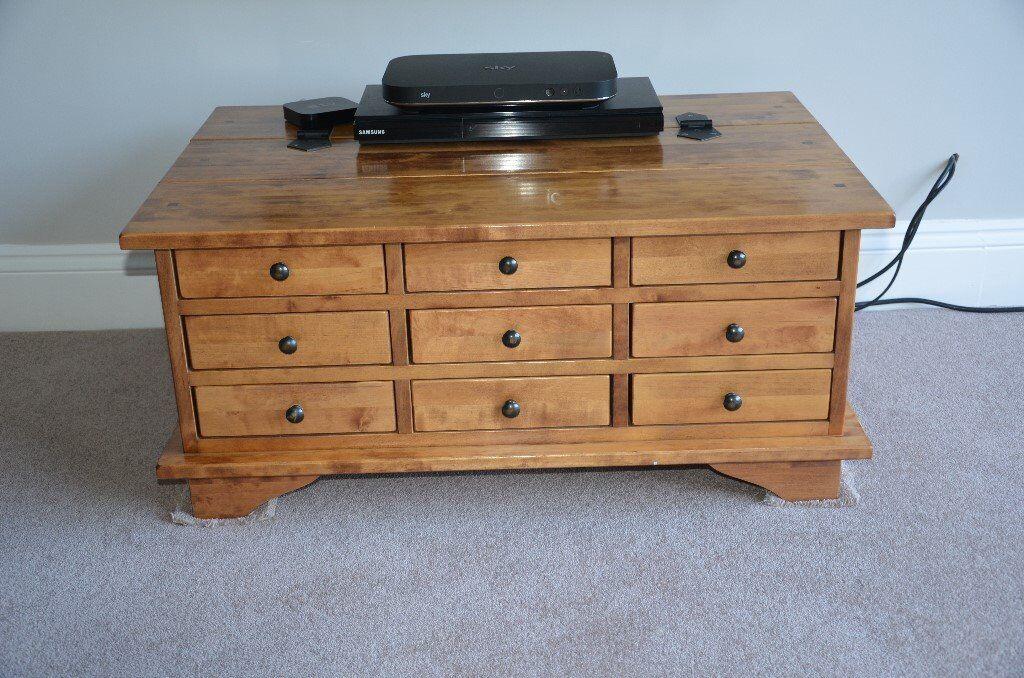 laura ashley garrat honey 9 drawer box coffee table | in nuthall