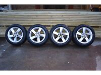 "GENUINE 16"" VW PASSAT BARCELONA ALLOYS CONTINENTAL TYRES 205/55/16 GOLF CADDY SHARAN POLO"