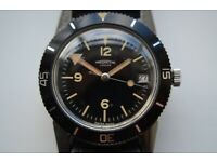 Winegartens manual wind mechanical diver's wristwatch - new old - '70s - Vintage