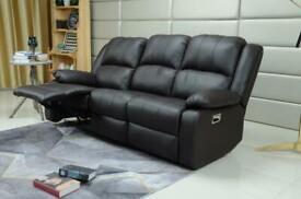 Designer leather 3+2 Recliner Lazy boy Sofa Set . Grey,Black,Brown, Cream