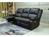 Designer leather 3+2 Recliner Lazy boy Sofa Set . Grey,Black,Brown, Cream