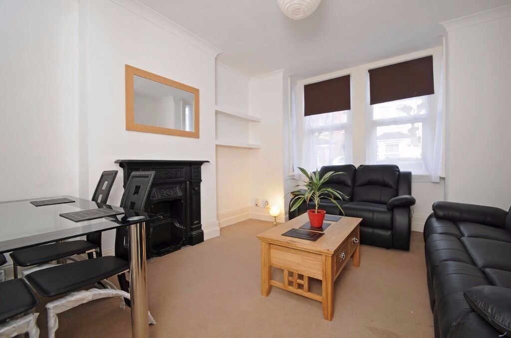 A ground floor maisonette offering one double bedroom and a garden, situated on Pitcairn Road.