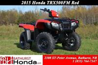 2015 Honda TRX500FM Four Wheel Drive! Manual (foot) shift with a
