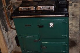 Rayburn 208K Oil Fired Cooker Racing Green
