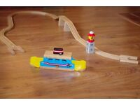 Brio wooden train, roll on roll off ferry & lighthouse