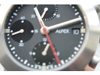 Alfex automatic mechanical chronograph wristwatch - Swiss new old stock - '00s - Val 7750