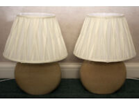 Pair of table lamps (used as bedside lamps)
