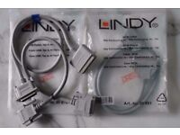 3 x LINDY SCSI Cables 1m. 1 in packaging 2 Loose NEW – RRP £98.00