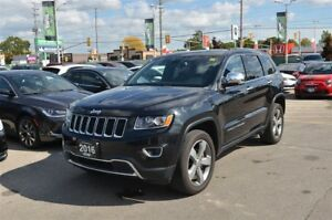 2016 Jeep Grand Cherokee Limited - 4x4, Sunroof, Bluetooth, Back