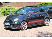 Abarth 500 fully loaded sat nav leather black 2015
